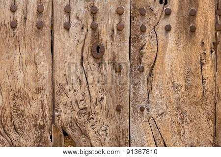 Majorca aged wooden door texture Mallorca Balearic island spain