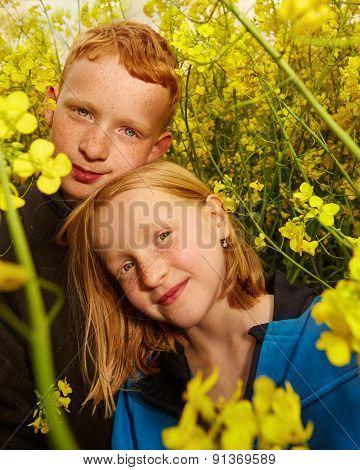 Boy And Girl In Rape Field