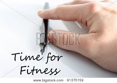 Time For Fitness Concept
