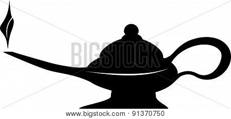 Oil Lamp Magic Lamp Symbol Vector Illustration