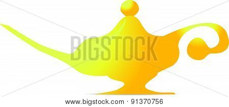 Oil Lamp Magic Lamp Symbol Vector Illustration