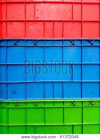 The colorful of artificial plastic for background