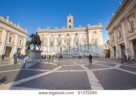 The Capitoline In Rome, Italy.