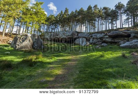 St Cuthberts Cave, Northumberland, England.