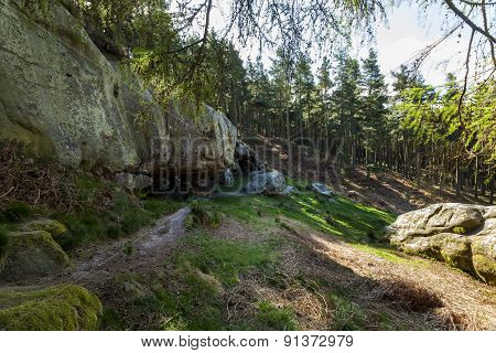 St Cuthberts Cave, Northumberland, England, UK.