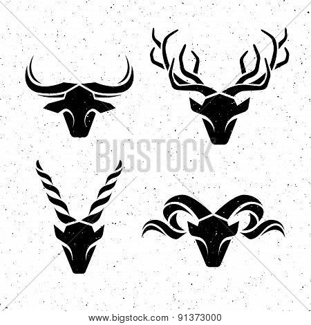 Logos horned animals.