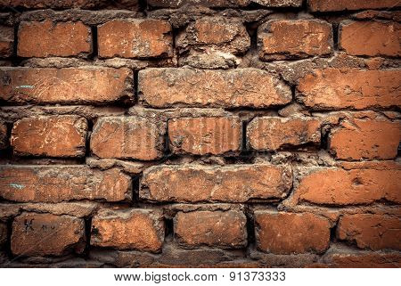 Background Of Colorful Brick Wall Texture. Brickwork.