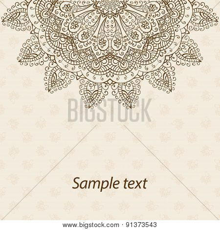 Card or invitation with mandala