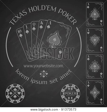 Poker emblem and design elements.