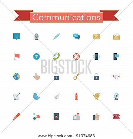Communications Flat Icons