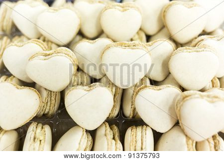 White Heart Shaped Candies