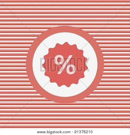 Percent Label Color Flat Icon