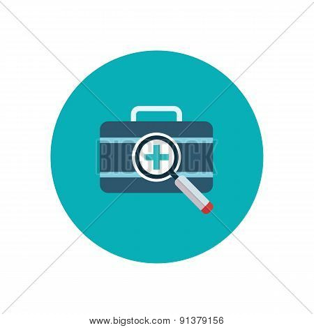 Set of flat design vector illustration concepts for health care