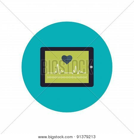 Flat design modern vector illustration concept for healthcare and online diagnosis.