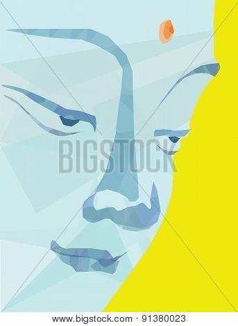 Vector buddha face