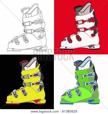 Mountain Ski Boot