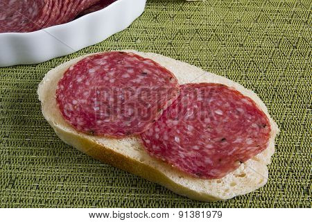 Sandwich Salami Sausages