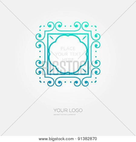 Vintage Frame for Luxury Logos, Restaurant, Hotel, Boutique or Business Identity. Royalty, Heraldic Design with Flourishes Elegant Design Elements. Vector Illustration Template.