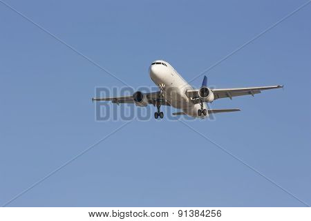 Perspective View Of Jet Airliner In Flight