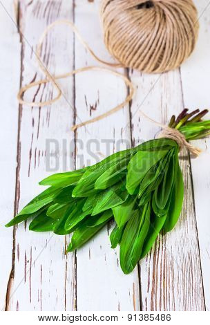 Ramson Which Is Tied Up By A Twine
