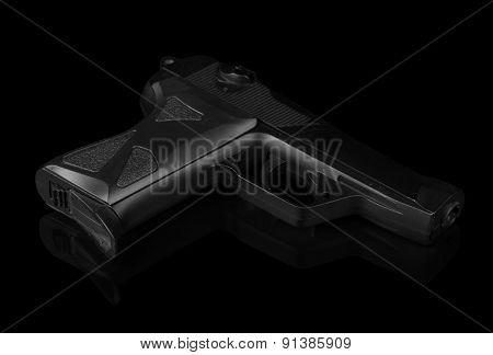 Gun isolated on black