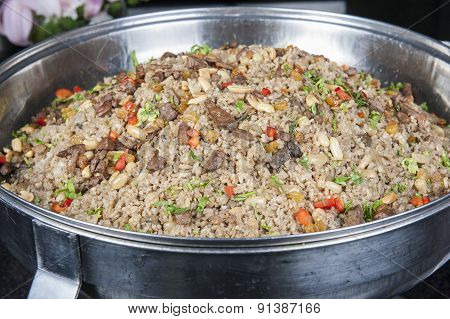 Oriental Rice At A Hotel Restaurant Buffet