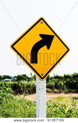 Turn Right Traffic Sign