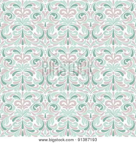 Pastel baroque pattern
