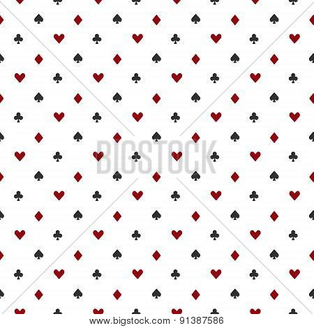 Poker or casino seamless pattern