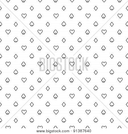 Poker vector seamless pattern