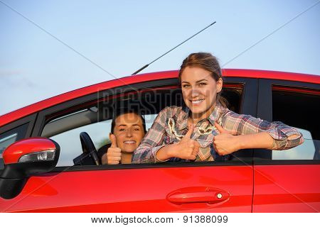 Girls In A Red Car.