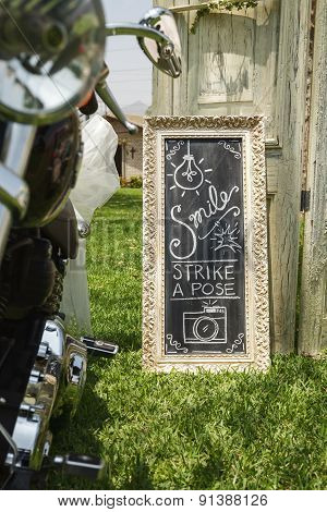 Diy Wedding Hand Written Sign