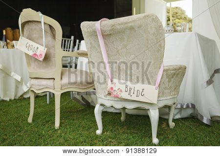 Diy Chairs For Bride And Groom