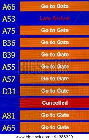 Terminal Info Board