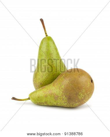 Two Green Ripe Pears
