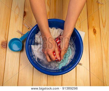 Female hands washing
