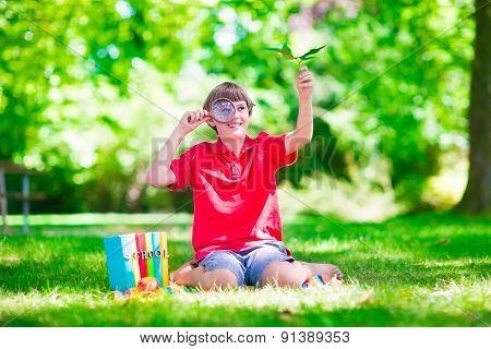 Child In School Yard