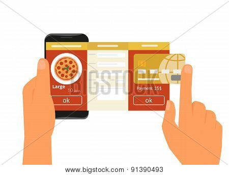 Mobile app for ordering pizza