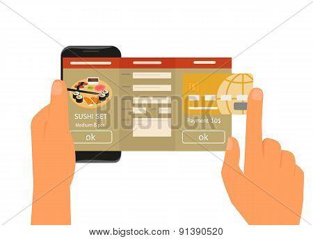 Mobile app for ordering sushi