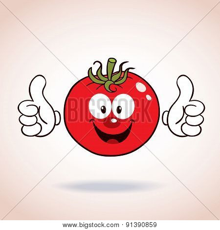 tomato mascot cartoon character
