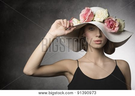 Girl In Romantic Spring Shoot