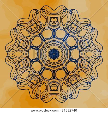 Mandala vector. Mehndi inspired mandala of henna color