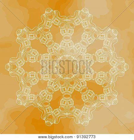 Mandala vector art. Vintage design element. Oriental motif.