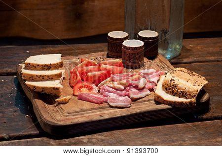 Bacon, Tomato, Bread And Vodka
