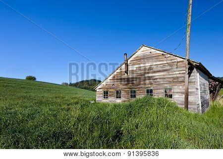Old Shed By Grassy Hill.