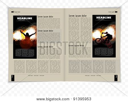 Layout magazine. Editable vector