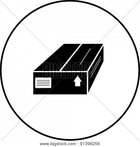 closed package box symbol