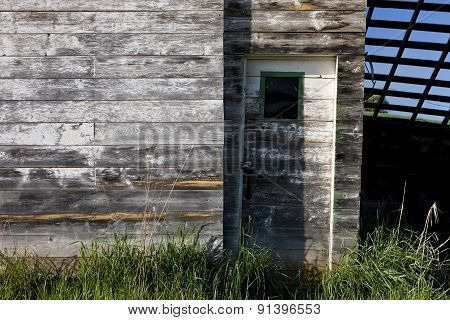 Old Shed And Door.