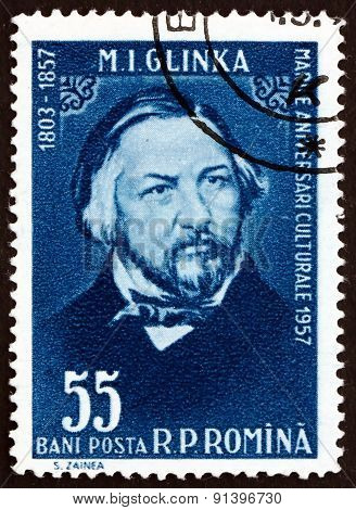 Postage Stamp Romania 1958 Mikhail Ivanovich Glinka, Russian Com