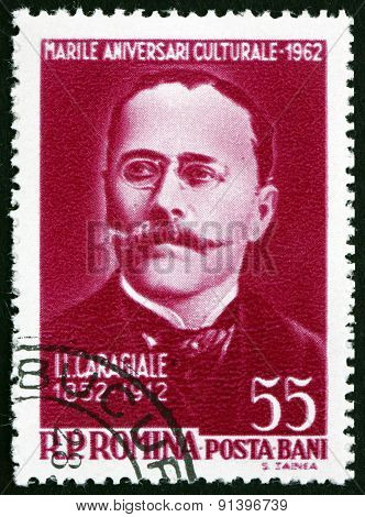 Postage Stamp Romania 1962 Ion Luca Caragiale, Romanian Playwright
